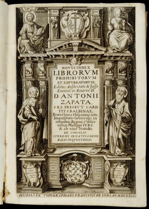 AFH7395 Zapata. Novus index librorum prohibitorum. title